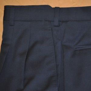 Brioni Blue Pleated Wool Dress Slacks Size 34 x 30